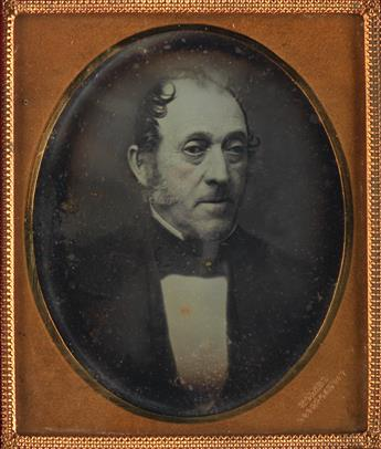 (MEDICAL) Sixth-plate copy daguerreotype of the remarkable American surgeon and professor Dr. Valentine Mott (1785-1865).