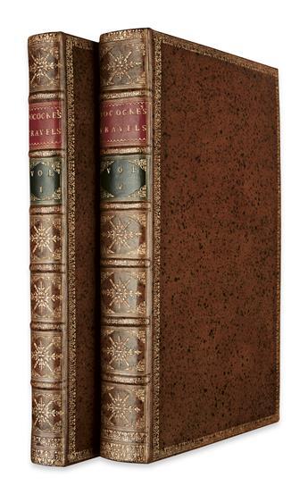 TRAVEL  POCOCKE, RICHARD. A Description of the East.  3 vols. in 2.  1743-45