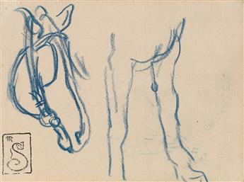THÉOPHILE-ALEXANDRE STEINLEN (Lausanne 1853-1923 Paris) Three studies of animals.
