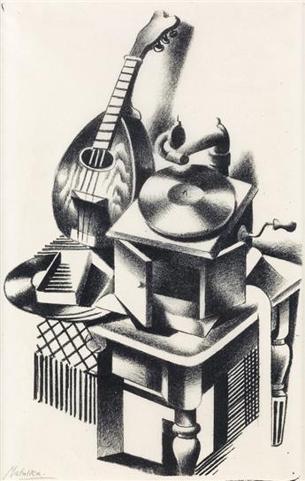 JAN MATULKA Still Life with Phonograph.