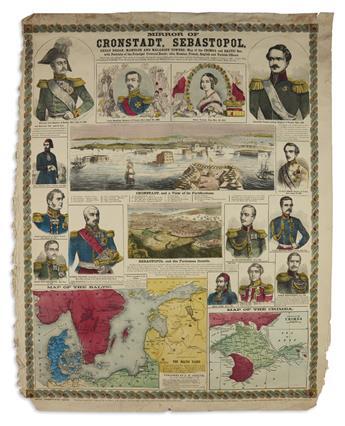(CRIMEAN WAR.) Jocelyn, Albert H. 3 hand-colored engraved broadside maps.