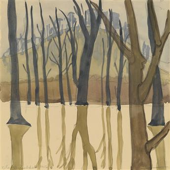 CHARLES BURCHFIELD Landscape with Trees.
