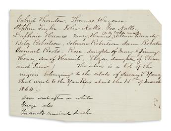 (SLAVERY AND ABOLITION.) Group of 10 slavery documents from Mississippi, mostly from Hinds County.