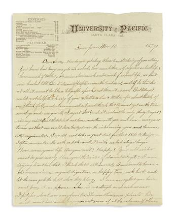 (CALIFORNIA.) Substantial archive of Blackmar family papers including 40 letters from California.