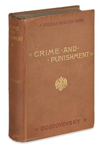 DOSTOYEVSKY, FYODOR. Crime and Punishment. A Russian Realistic Novel.