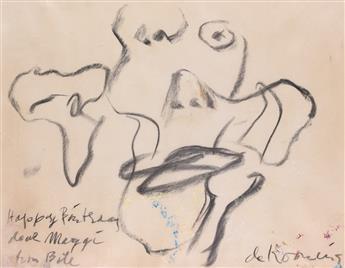 WILLEM DE KOONING Untitled (Womans Head).