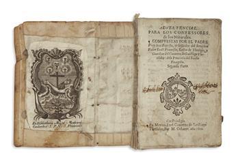 (MEXICAN IMPRINT--1601.) Baptista, Juan. Advertencias para los confessores de los naturales
