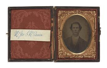 (CIVIL WAR--CONFEDERATE.) Photographs of Robert E. Lees plantation overseer John S. McQuinn and family.