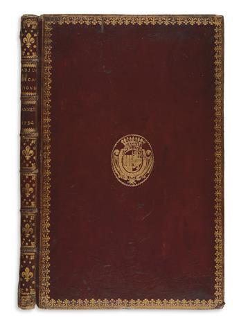 ARCHITECTURE.  Cotte, Robert de. Devis, Conditions, Prix et Adjudications des Ouvrages de Maçonnerie [etc.]. 22 parts in one vol.  1735