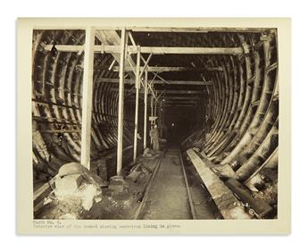 (NEW YORK CITY.) Large collection of reports and contracts for the construction of the Holland Tunnel.