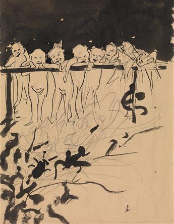 GUSTAVE-JOSEPH CHÉRET (Paris 1838-1894 Paris) Group of 4 drawings.