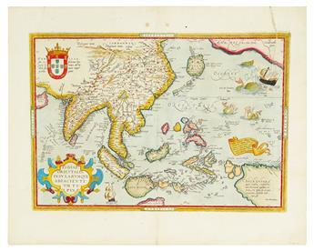 ORTELIUS, ABRAHAM. Indiae Orientalis, Insularumque Adiaceintium Typus.
