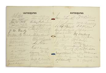 (NEW YORK.) Papers of Dr. Cornelius R. Agnew, including dozens of notable autographs.