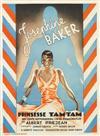 SVEND KOPPEL (1904-1978). JOSEPHINE BAKER / PRINSESSE TAM - TAM. 1935. 33x24 inches. DYVA & Jeppesens Bogtrykkeri.