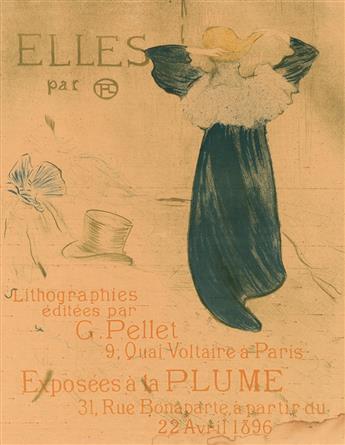 HENRI DE TOULOUSE-LAUTREC (1864-1901). ELLES. 1896. 23x18 inches, 59x47 cm.