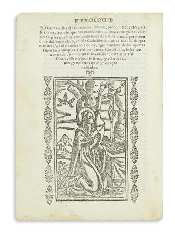 (MEXICAN IMPRINT--1611.) León, Martín de; Fray. Camino del cielo en lengua mexicana.