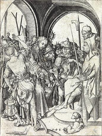 MARTIN SCHONGAUER Christ before Annas.