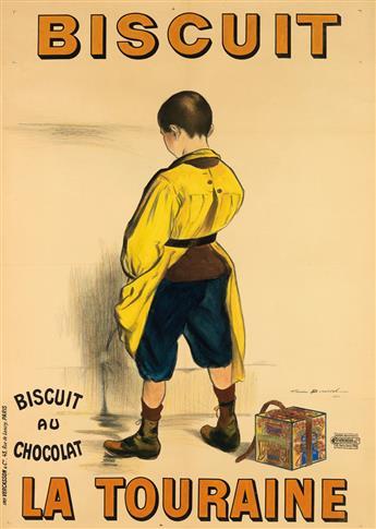 FIRMIN BOUISSET (1859-1925). BISCUIT LA TOURAINE. 1901. 54x38 inches, 138x98 cm. Vercasson & Cie., Paris.