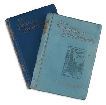 DOYLE, ARTHUR CONAN. The Adventures of Sherlock Holmes * The Memoirs of Sherlock Holmes.