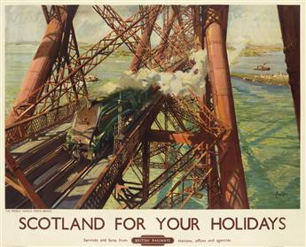 TERENCE CUNEO (1907-1996). SCOTLAND FOR YOUR HOLIDAYS / BRITISH RAILWAYS. 1952. 39x49 inches, 101x125 cm. Waterlow, Great Britain.