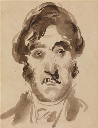 PIERRE-LUC-CHARLES CICERI (Saint-Cloud 1782-1868 Saint-Chéron) Self Portrait.