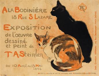 THÉOPHILE-ALEXANDRE STEINLEN (1859-1923). A LA BODINIÉRE. 1894. 23x30 inches, 58x76 cm. Charles Verneau, Paris.