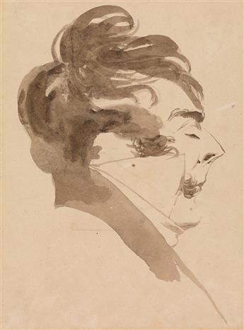 PIERRE-LUC-CHARLES CICERI (Saint-Cloud 1782-1868 Saint-Chéron) Group of 7 brush and ink and wash portraits.