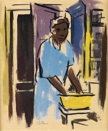 SAMELLA LEWIS (1924 -  ) Washerwoman.