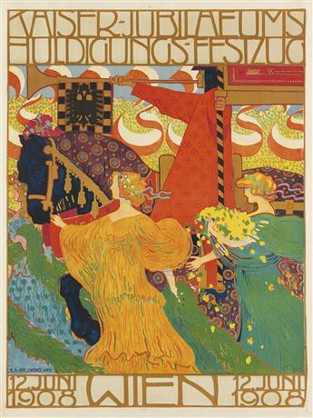 FERDINAND LUDWIG GRAF (1868-1932). KAISER - JUBILAEUMS / WIEN. 1908. 49x37 inches, 126x94 cm. J. Weiner, Vienna.