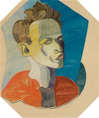 JAMES A. PORTER (1905 - 1970) FA as Harlequin.