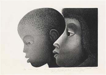 ELIZABETH CATLETT (1915 - 2012) Madre e Hijo.