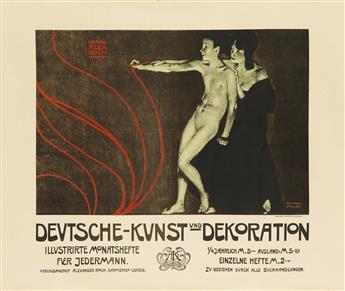 JOSEF R. WITZEL (1867-1924). DEUTSCHE - KUNST UND DEKORATION. 1898. 34x40 inches, 86x102 cm. Meisenbach, Riffarth & Cie., Munich.
