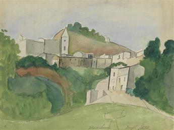 JOSEPH STELLA View of Muro Lucano, Italy.