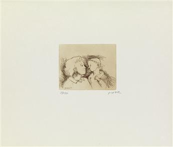 MOORE, HENRY. Mother and Child.