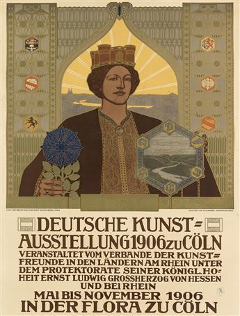 JOHANN VINCENZ CISSARZ (1873-1942). DEUTSCHE KUNST = AUSSTELLUNG ZU CÖLN. 1906. 41x31 inches, 105x79 cm. M. Dumont Schauberg, Cologne.