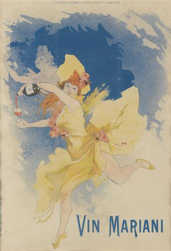JULES CHÉRET (1836-1932). [VIN MARIANI] and [EL DORADO]. Two Courrier Français supplements. 1894. Each approximately 22x15 inches, 56x3