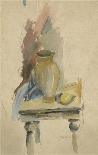 MAX WEBER Still Life with a Vase and Lemon.