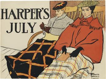 EDWARD PENFIELD (1866-1925). HARPERS JULY. 1896. 15x19 inches, 38x50 cm. [Harper & Brothers, New York.]
