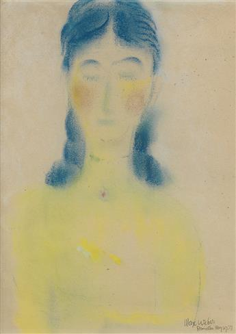 MAX WEBER Portrait of a Woman.