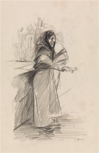 JEAN-LOUIS FORAIN (Reims 1852-1931 Paris) A Parisan Beggar Woman.