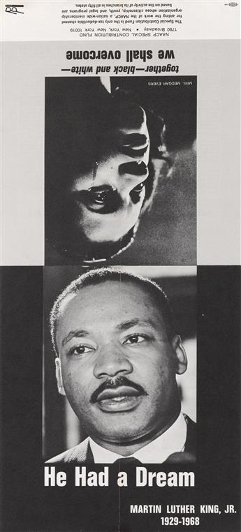 (KING, MARTIN LUTHER.) He Had a Dream flier with Roy Wilkins letter for the NAACP Special Contribution Fund.