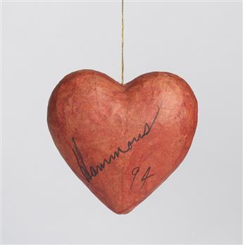 DAVID HAMMONS (1943 -   ) Untitled (Heart).