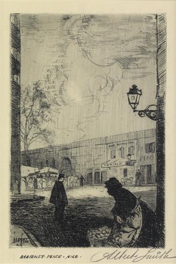 ALBERT ALEXANDER SMITH (1896 - 1940) Market Place, Nice.