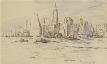 JAMES McBEY Lower Manhattan, Winter Morning
