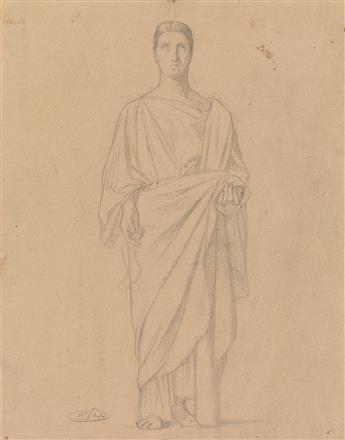 JEAN-HIPPOLYTE FLANDRIN (Lyon 1809-1864 Rome) Group of 5 pencil drawings.