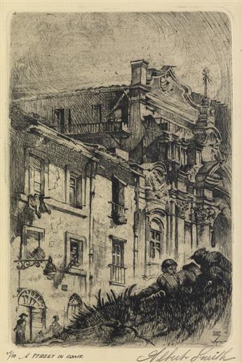 ALBERT ALEXANDER SMITH (1896 - 1940) A Street in Rome.