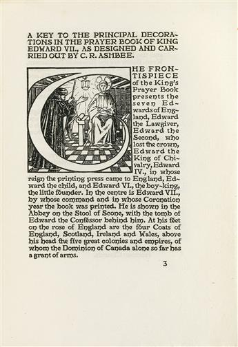 (ESSEX HOUSE PRESS.) A Key to the Principal Decorations in the Prayer Book of King Edward VII as designed and carried out by C R.Ashbee