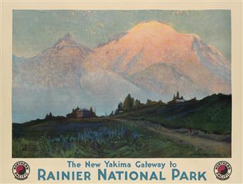 SYDNEY LAURENCE (1865-1940). THE NEW YAKIMA GATEWAY TO RAINIER NATIONAL PARK. 1932. 30x40 inches, 76x101 cm.