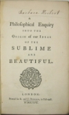 BURKE, EDMUND.  A Philosophical Enquiry into the Origin of our Ideas of the Sublime and Beautiful.  1757