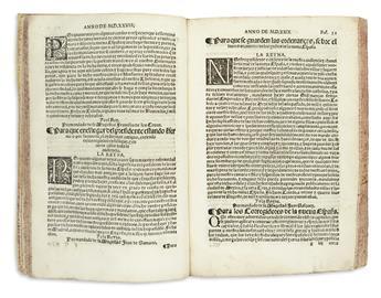 (MEXICAN IMPRINT--1563.) Puga, Vasco de. Philippus Hispaniarum et Indiarum Rex: Provisiones, cedulas, instrucciones de su magestad.
